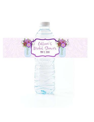 Mason Jar Water Bottle Labels - Cathy's Creations - www.candywrappershop.com
