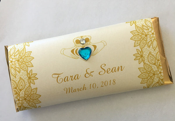 Irish Claddagh Wedding Candy Bar - Cathy's Creations - www.candywrappershop.com