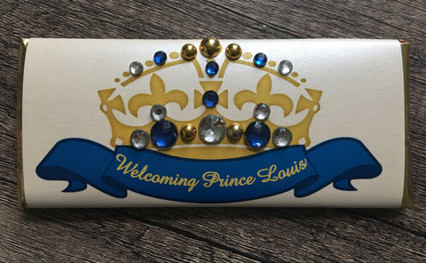 Little Prince Crown Bling Candy Bar - Cathy's Creations - www.candywrappershop.com
