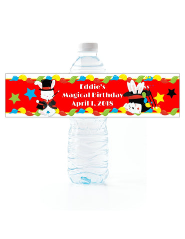 Magician Water Bottle Labels Water Bottle Labels- Cathy's Creations - www.candywrappershop.com