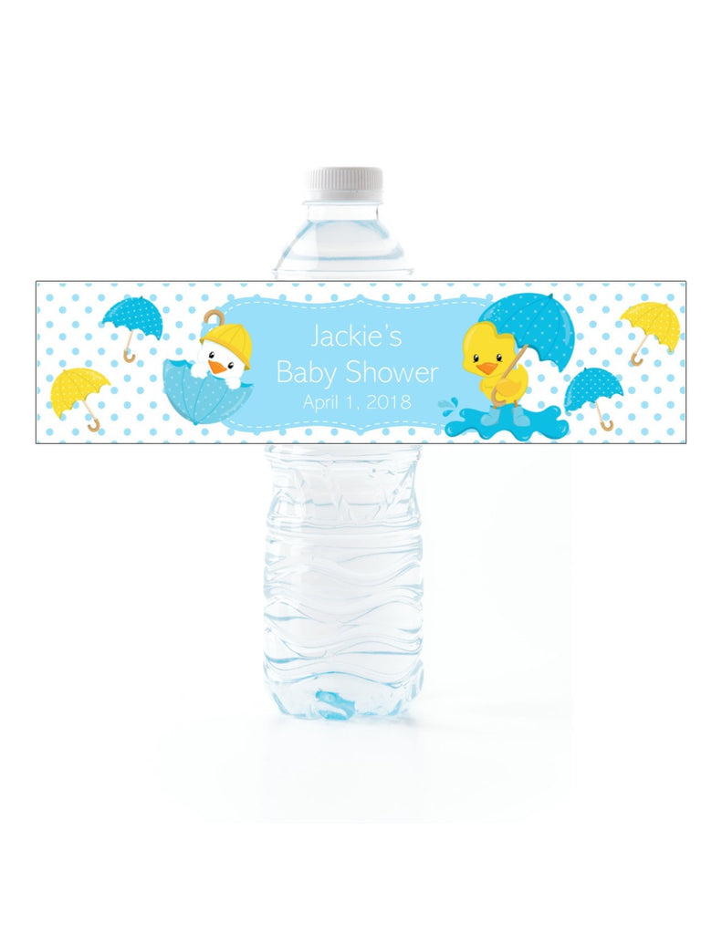 Duck Baby Shower Water Bottle Labels - Cathy's Creations - www.candywrappershop.com