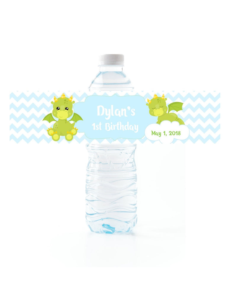 Dragon Water Bottle Labels - Cathy's Creations - www.candywrappershop.com