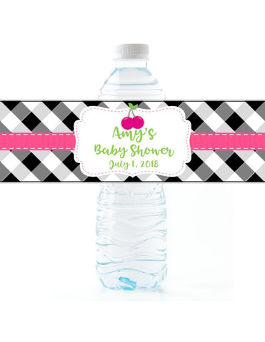 Cherry Water Bottle Labels Water Bottle Labels- Cathy's Creations - www.candywrappershop.com