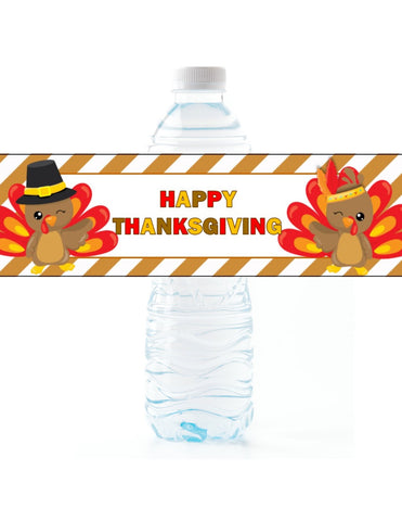 Thanksgiving Water Bottle Labels - Cathy's Creations - www.candywrappershop.com