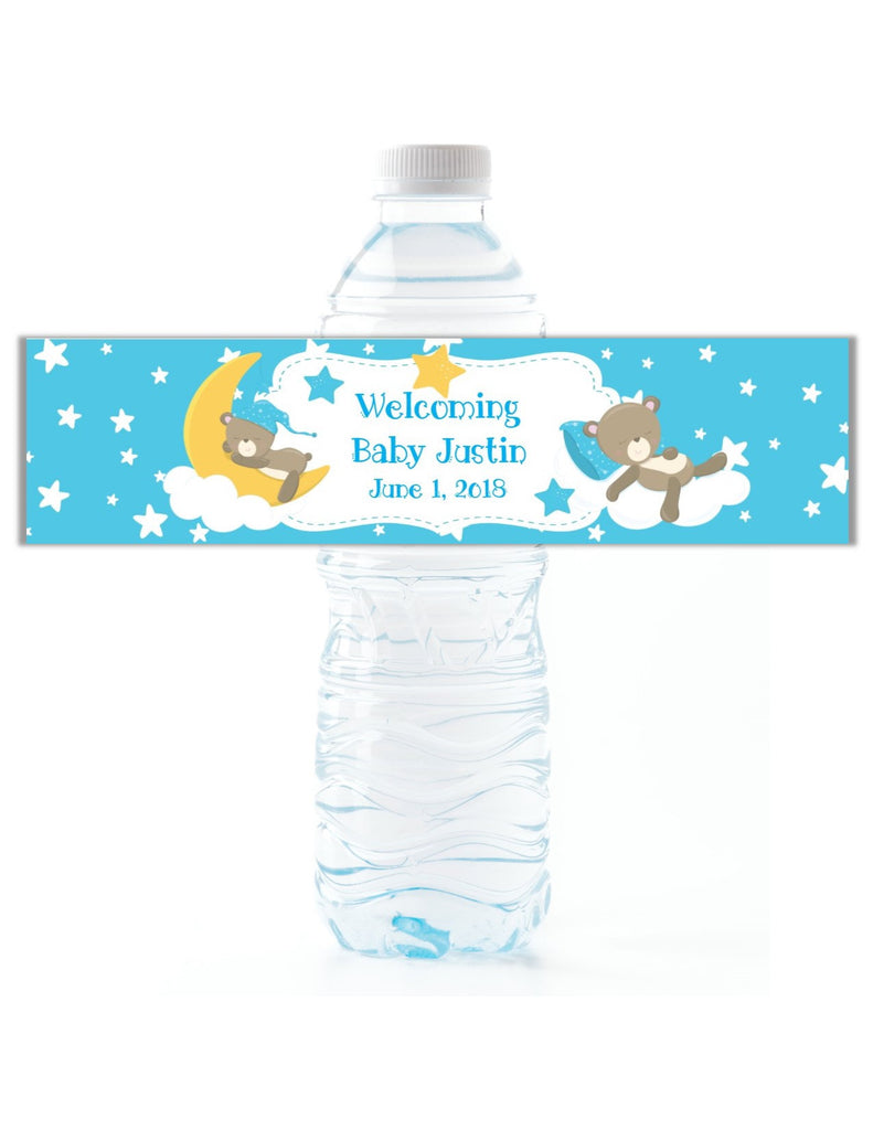 Teddy Bear Water Bottle Labels - Cathy's Creations - www.candywrappershop.com