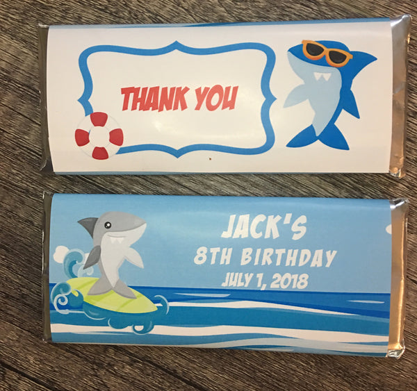 Shark Candy Bar Wrapper - Cathy's Creations - www.candywrappershop.com