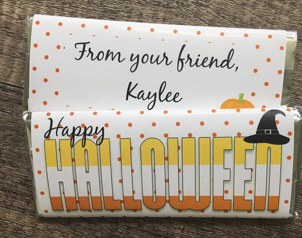 Happy Halloween Candy Bar Wrapper Candy Bar Wrapper- Cathy's Creations - www.candywrappershop.com
