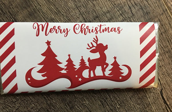 Christmas Reindeer Candy Bar Wrapper - Cathy's Creations - www.candywrappershop.com