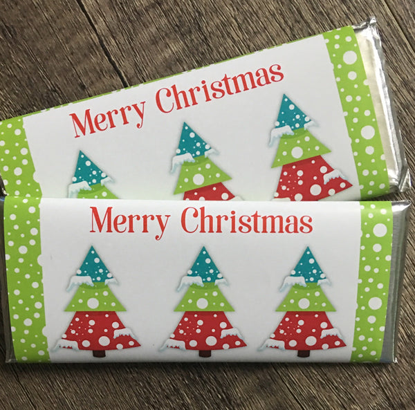 Christmas Tree Trio Candy Bar Wrapper - Cathy's Creations - www.candywrappershop.com