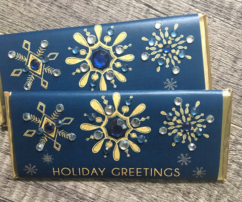cathy-wraps - Snowflake Bling Candy Bars - Candy Bar Wrapper