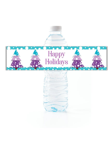 Christmas Tree Water Bottle Labels-Water Bottle Labels-Cathy's Creations - www.candywrappershop.com
