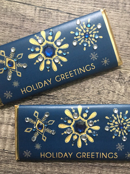 Snowflake Bling Candy Bar - Cathy's Creations - www.candywrappershop.com