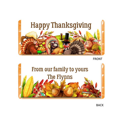 cathy-wraps - Thanksgiving Friends Candy Bar Wrapper - Candy Bar Wrapper