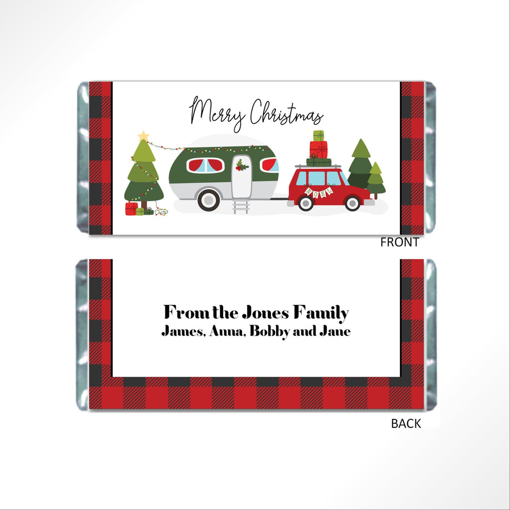 Christmas Camper Candy Bar Wrapper - Cathy's Creations - www.candywrappershop.com