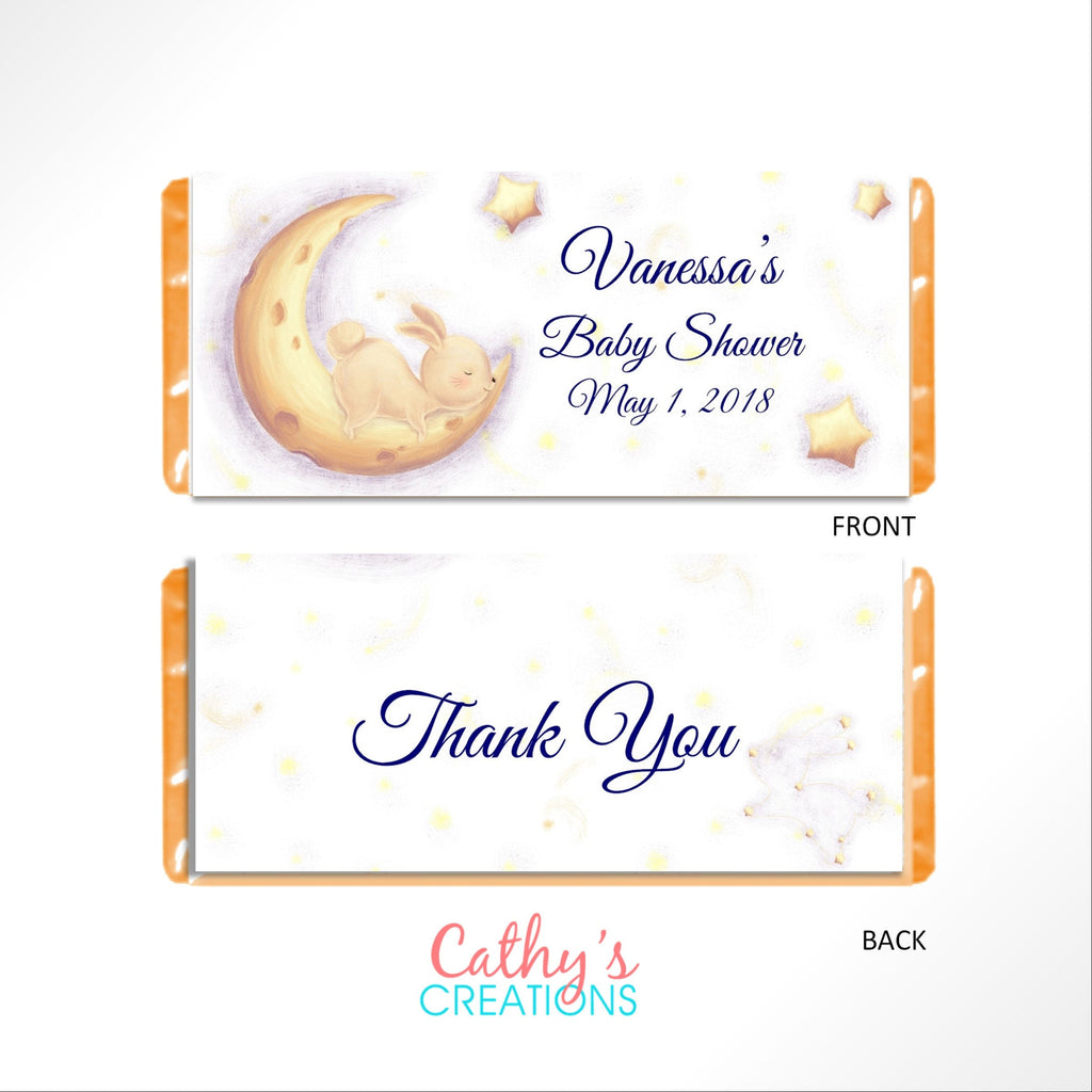 Celestial Bunny Candy Bar Wrapper - Cathy's Creations - www.candywrappershop.com