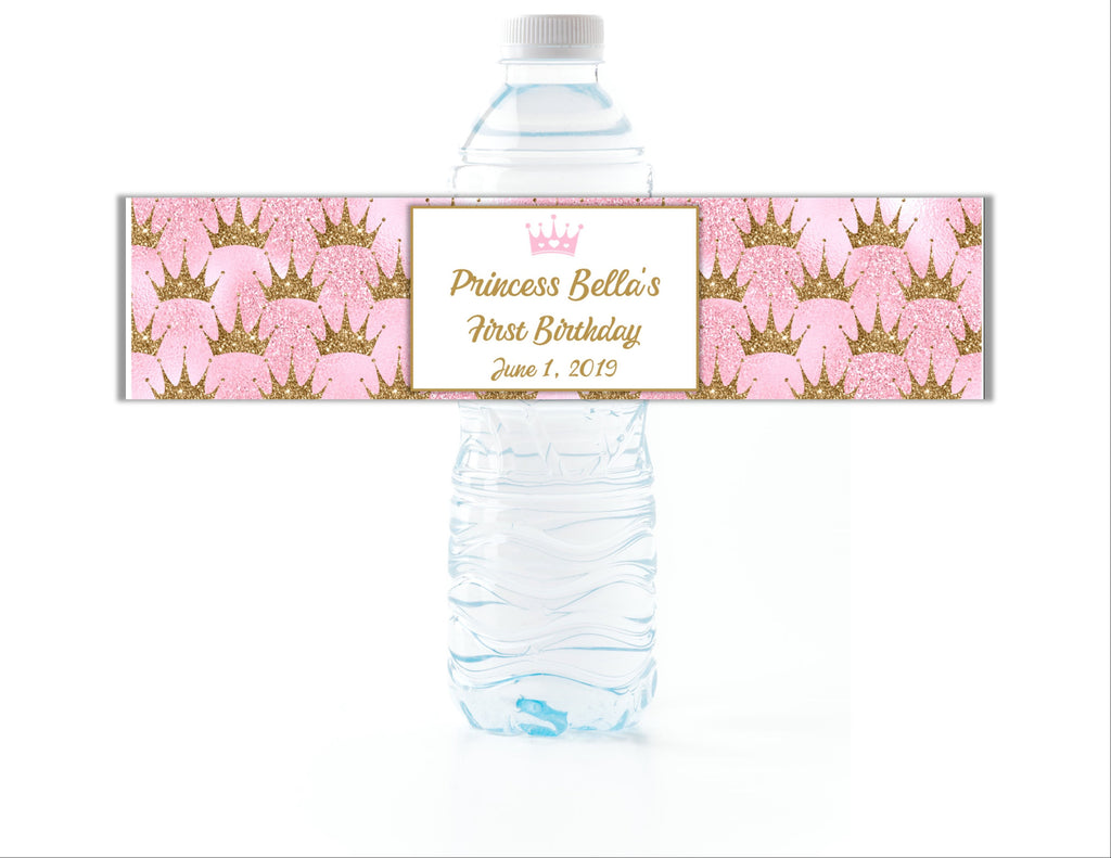 Princess Water Bottle Labels - Cathy's Creations - www.candywrappershop.com