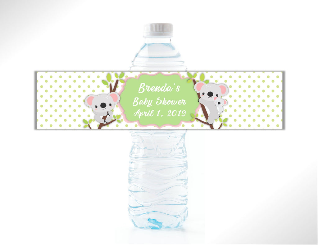 Koala Babies Water Bottle Labels - Cathy's Creations - www.candywrappershop.com