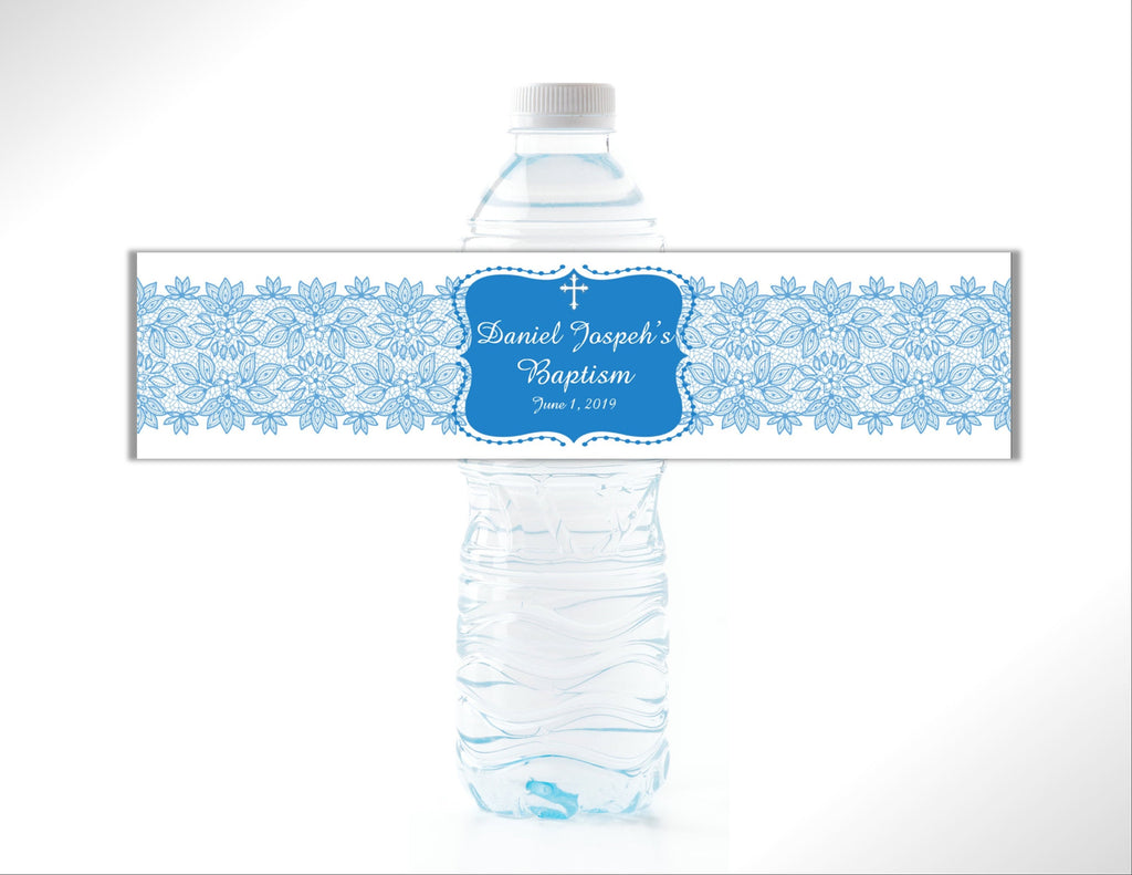 Religious Lace Water Bottle Labels - Cathy's Creations - www.candywrappershop.com