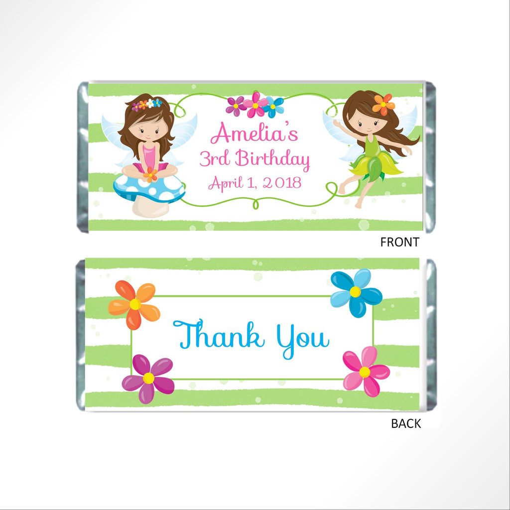 Woodland Fairy Candy Bar Wrapper-Candy Bar Wrapper-Cathy's Creations - www.candywrappershop.com