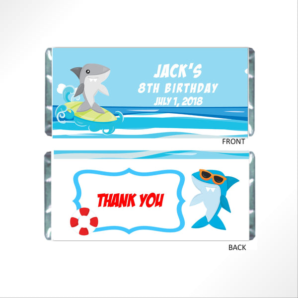 Shark Candy Bar Wrapper-Candy Bar Wrapper-Cathy's Creations - www.candywrappershop.com