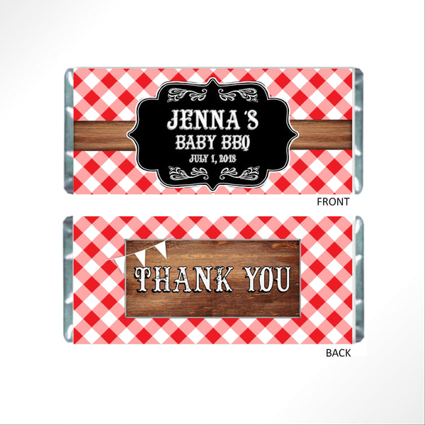 BBQ Party Candy Bar Wrapper - Cathy's Creations - www.candywrappershop.com