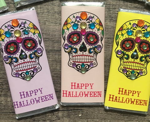 Sugar Skull Candy Bar-Candy Bar Wrapper-Cathy's Creations - www.candywrappershop.com