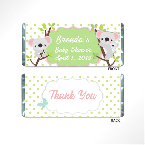 Koala Dots Candy Wrapper Candy Bar Wrapper- Cathy's Creations - www.candywrappershop.com