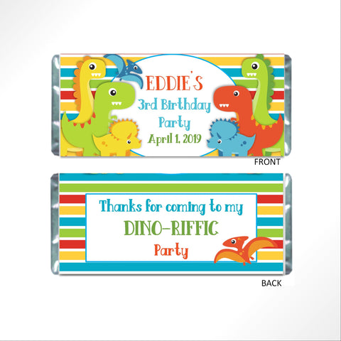 Dinosaur Candy Bar Wrapper-Candy Bar Wrapper-Cathy's Creations - www.candywrappershop.com