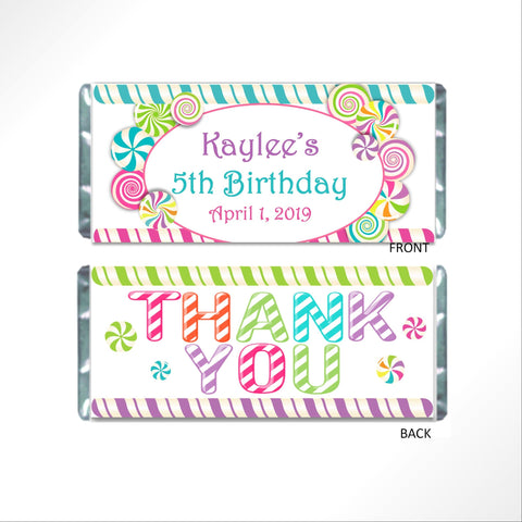 Candy Land Theme Candy Bar Wrapper Candy Bar Wrapper- Cathy's Creations - www.candywrappershop.com
