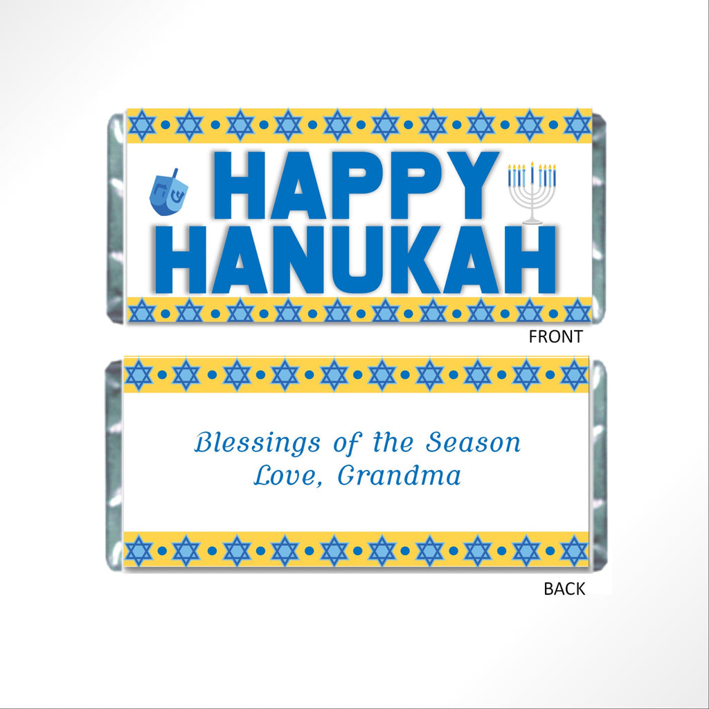 Hanukkah Candy Bar Wrapper - Cathy's Creations - www.candywrappershop.com