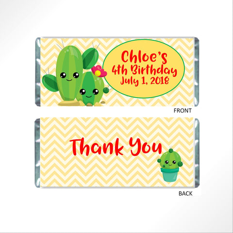 Cactus Candy Bar Wrapper - Cathy's Creations - www.candywrappershop.com