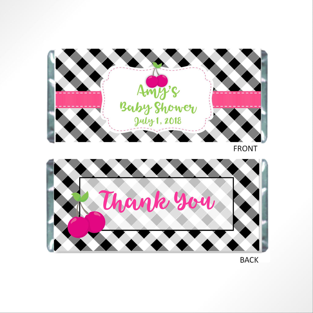 Cherry Candy Bar Wrapper - Cathy's Creations - www.candywrappershop.com