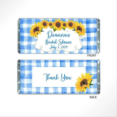 Sunflower Candy wrapper Candy Bar Wrapper- Cathy's Creations - www.candywrappershop.com