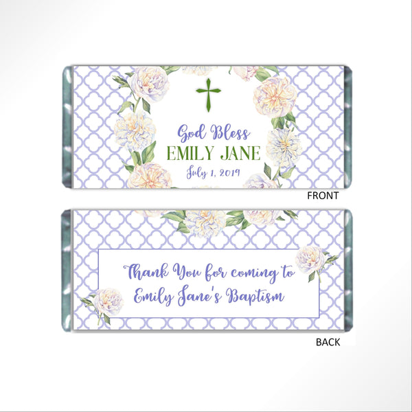 Religious Floral Wreath Candy Bar Wrapper - Cathy's Creations - www.candywrappershop.com