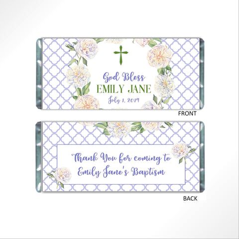 cathy-wraps - Religious Floral Wreath Candy Bar Wrapper - Candy Bar Wrapper