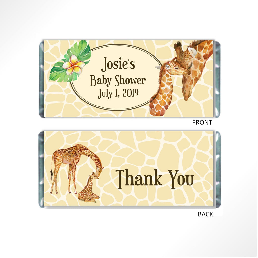 Giraffe Safari Candy Bar Wrapper - Cathy's Creations - www.candywrappershop.com