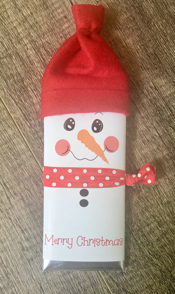 Snowman Candy Bar-Candy Bar Wrapper-Cathy's Creations - www.candywrappershop.com