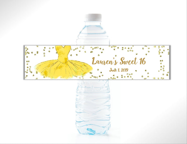 Princess Party Water Bottle Labels - Cathy's Creations - www.candywrappershop.com