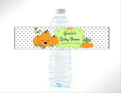 Little Pumpkin Water Bottle Labels - Cathy's Creations - www.candywrappershop.com