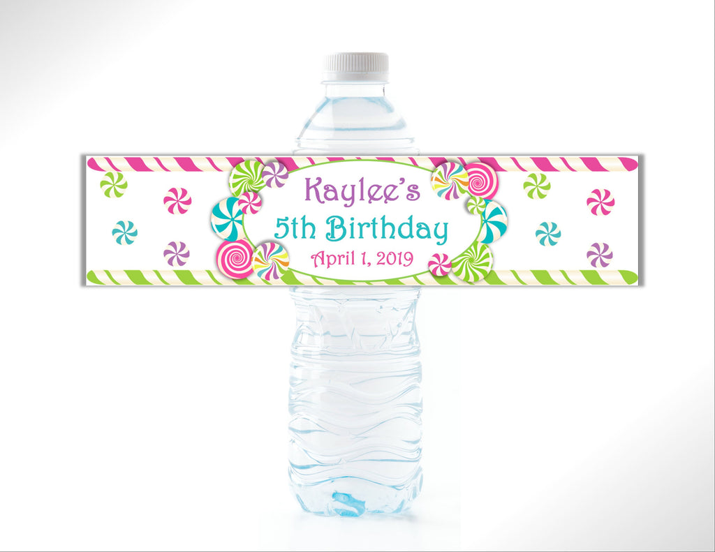 Candy Themed Water Bottle Labels - Cathy's Creations - www.candywrappershop.com