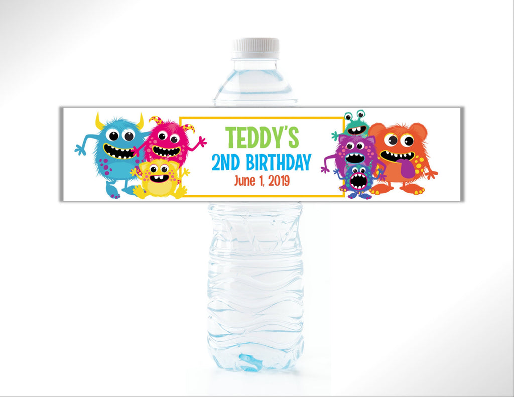 Monster Water Bottle Labels - Cathy's Creations - www.candywrappershop.com