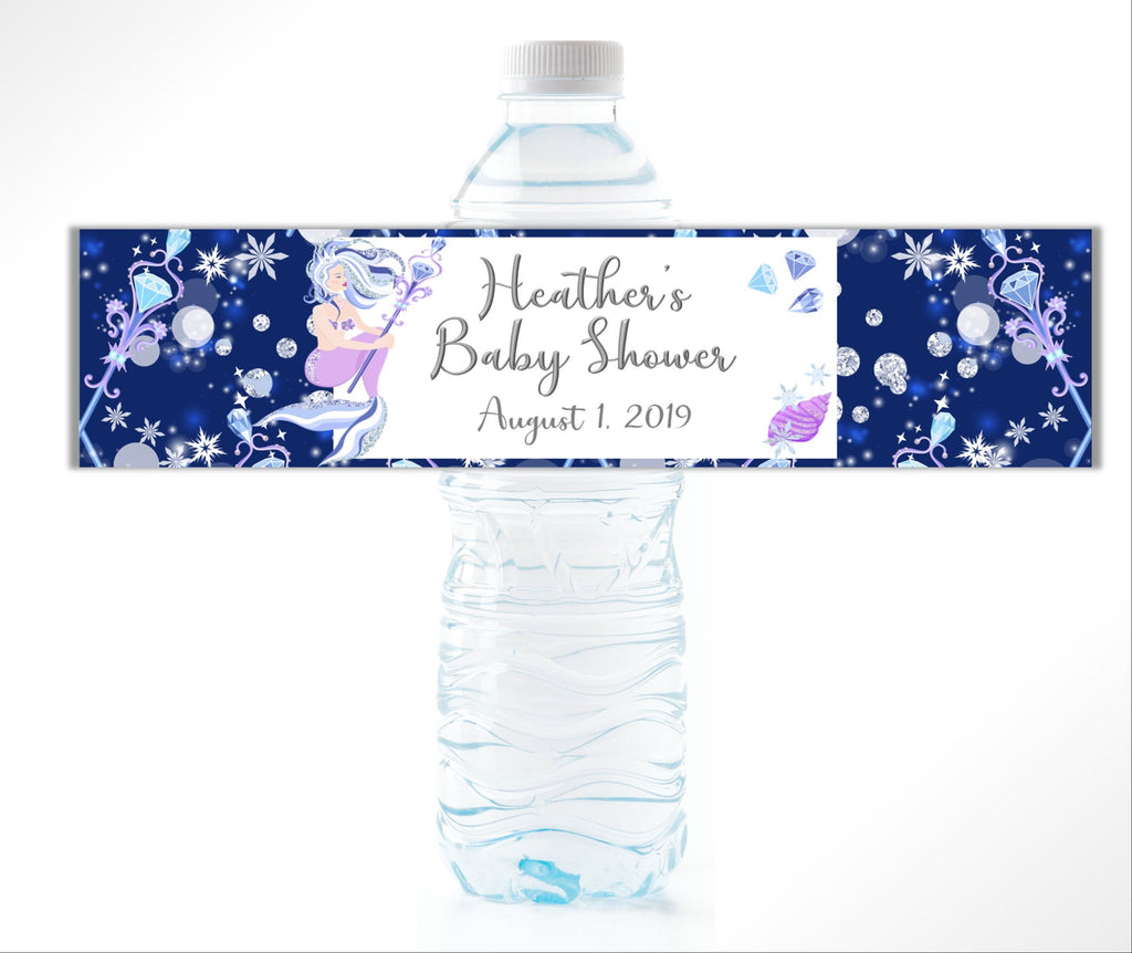 Mermaid Water Bottle Labels - Cathy's Creations - www.candywrappershop.com
