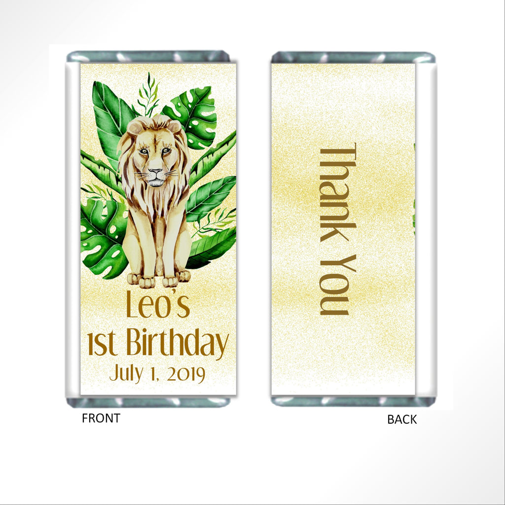 Lion Candy Bar Wrapper - Cathy's Creations - www.candywrappershop.com