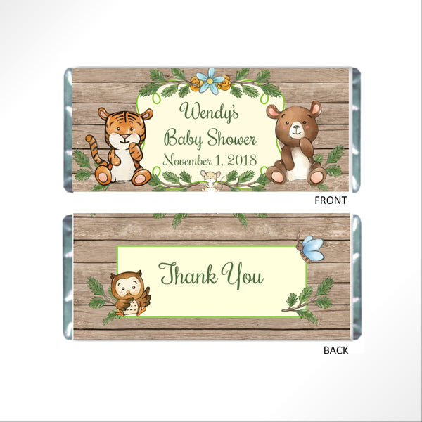 Rustic Woodland Candy Bar Wrapper - Cathy's Creations - www.candywrappershop.com