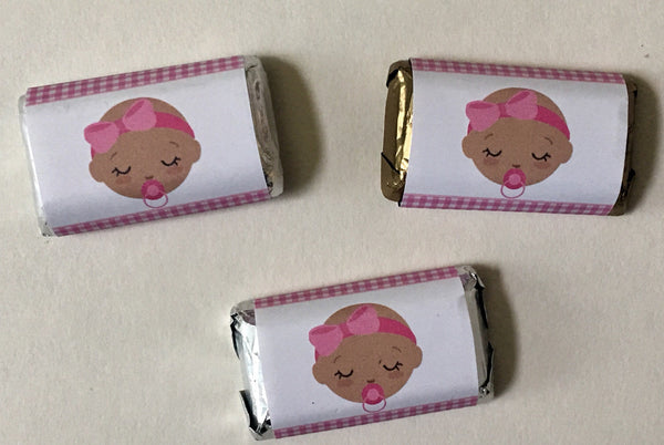 Baby Shower Mini Candy Bar Wrappers - Cathy's Creations - www.candywrappershop.com