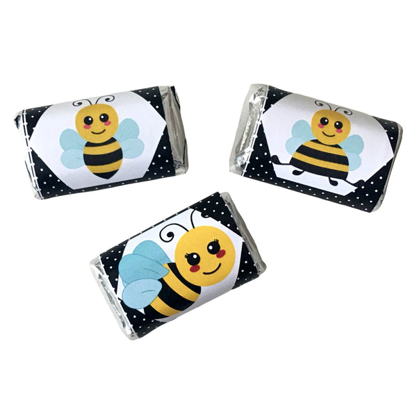 Bumble Bee Mini Candy Wrappers - Cathy's Creations - www.candywrappershop.com