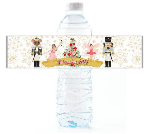 Nutcracker Water Bottle Labels-Water Bottle Labels-Cathy's Creations - www.candywrappershop.com