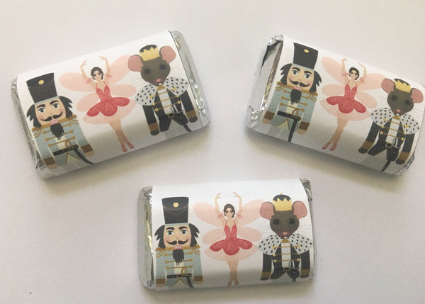 Nutcracker Mini Candy Wrappers - Cathy's Creations - www.candywrappershop.com
