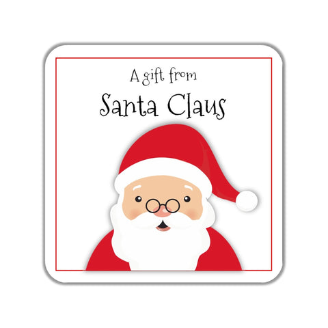 Christmas Santa Claus Gift Stickers OR Tags-Favor Tags & Stickers-Cathy's Creations - www.candywrappershop.com