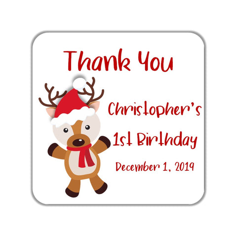 Reindeer Baby Shower Favor Stickers OR Tags-Favor Tags & Stickers-Cathy's Creations - www.candywrappershop.com